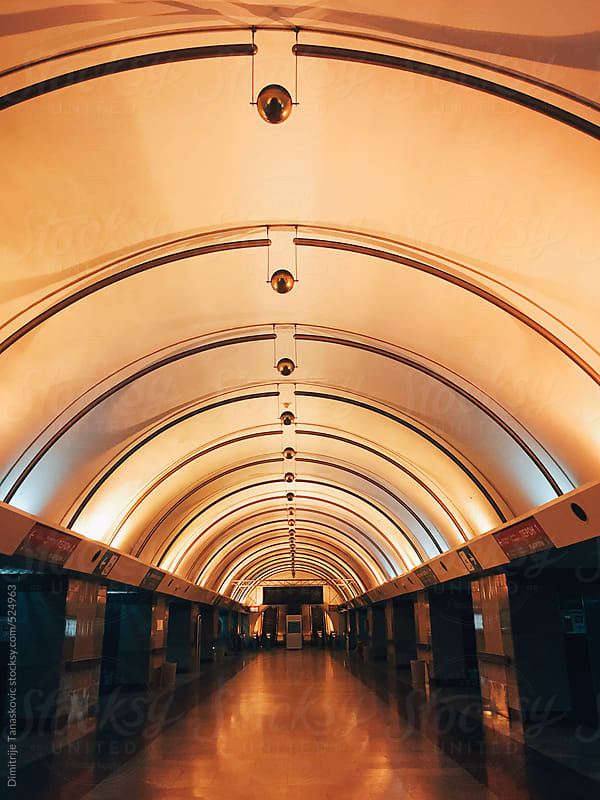 Hall in the metro station by Dimitrije Tanaskovic for Stocksy United