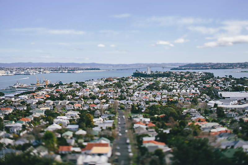 Tilted view of Devonpot, Auckland by Andrey Pavlov for Stocksy United