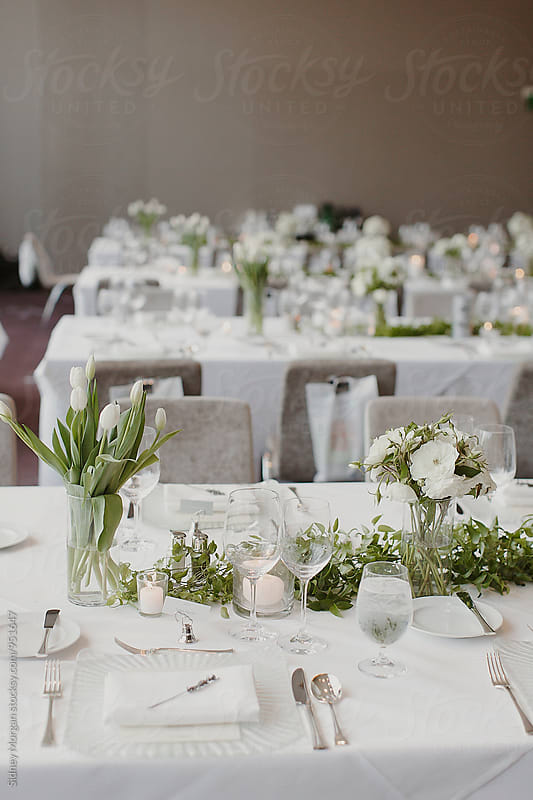 Wedding Table Decor by Sidney Morgan for Stocksy United