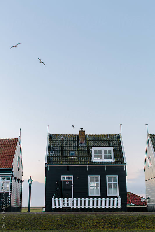 Old wooden traditional Dutch house. by Denni Van Huis for Stocksy United