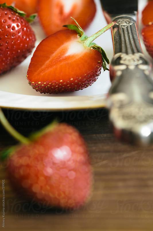 strawberries by Alexey Kuzma for Stocksy United