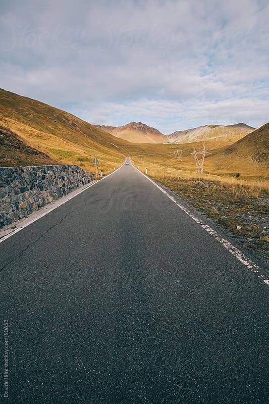 Mountain road on Italian Alps by Davide Illini for Stocksy United
