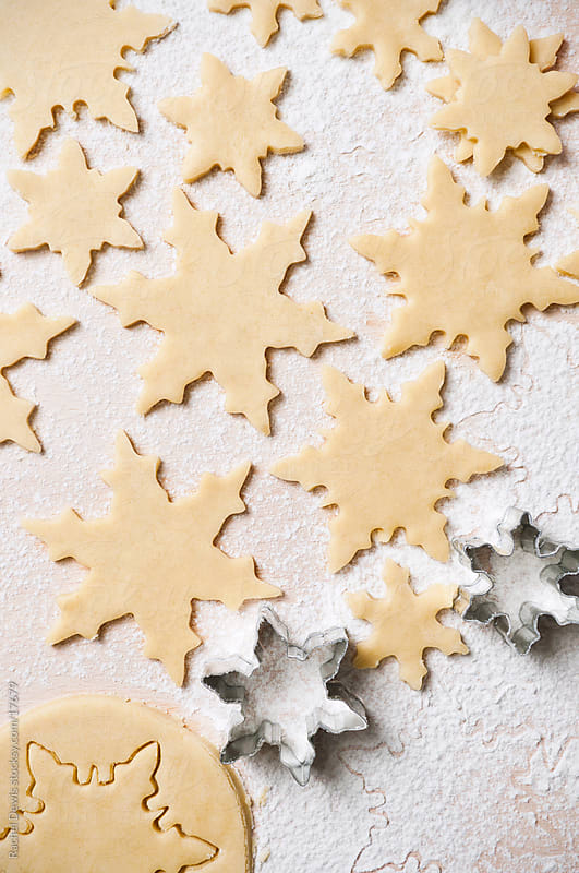 Baking christmas cookies. by Rachel Dewis for Stocksy United