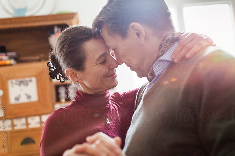 Mature couple face to face by VegterFoto for Stocksy United