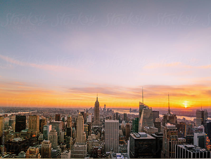 Sunset over New York City by Vivienne Gucwa for Stocksy United