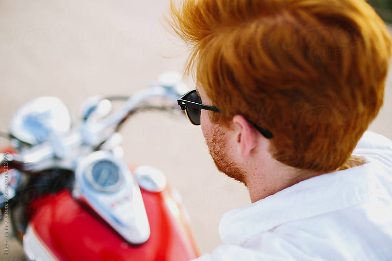 Motorcycle Man by luke + mallory leasure for Stocksy United