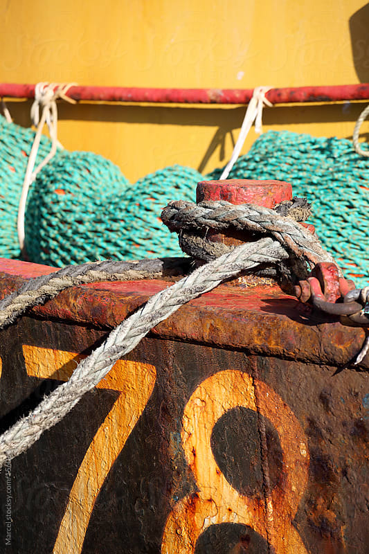 Detail of an old fishing boat by Marcel for Stocksy United