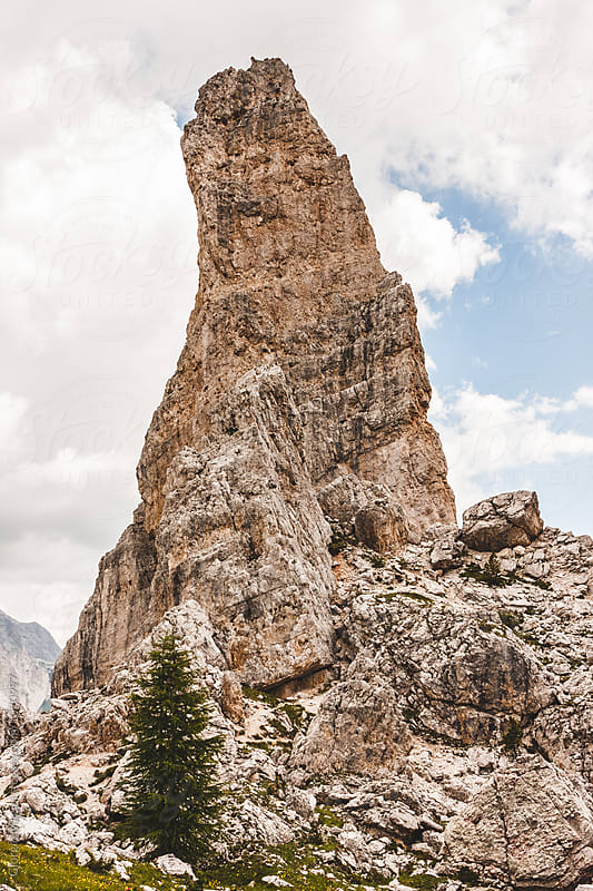 Cinque Torri, Italian Dolomites Mountains by Giorgio Magini for Stocksy United