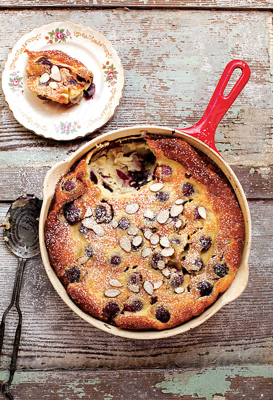 Cherry Clafoutis Dessert by Sara Remington for Stocksy United