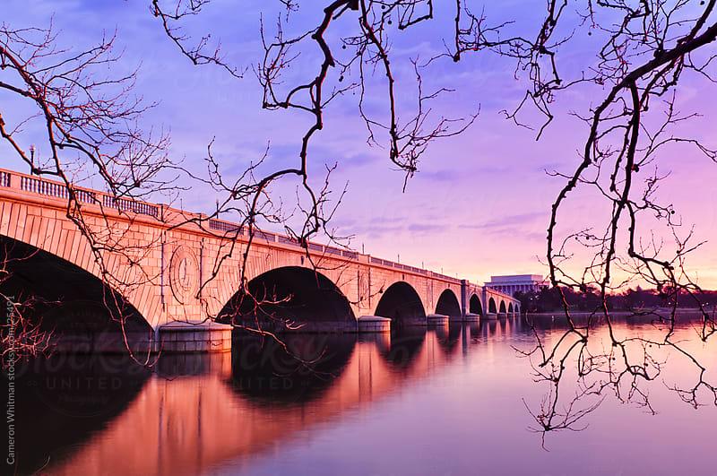 Arlington Memorial Bridge At Sunrise by Cameron Whitman for Stocksy United