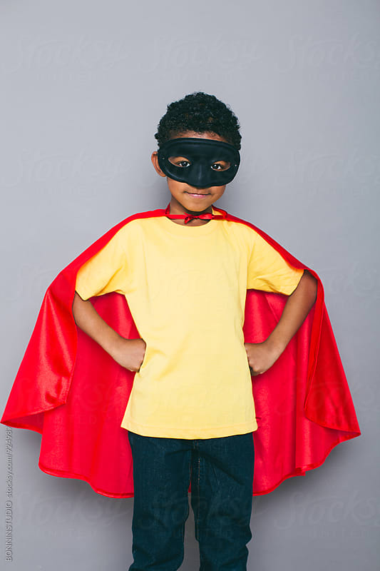 Portrait of a little boy with Superhero costume. by BONNINSTUDIO for Stocksy United