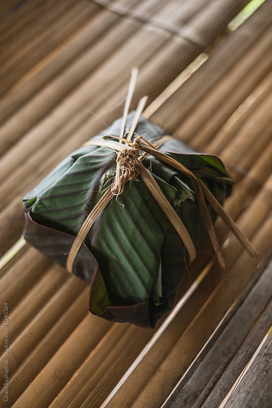 Rice in Leaf by Chalit Saphaphak for Stocksy United