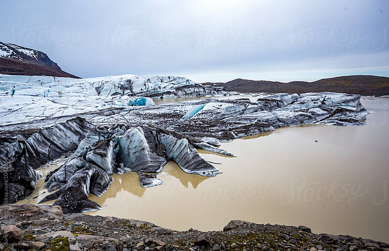 Glacier lagoon in Iceland by Søren Egeberg Photography for Stocksy United