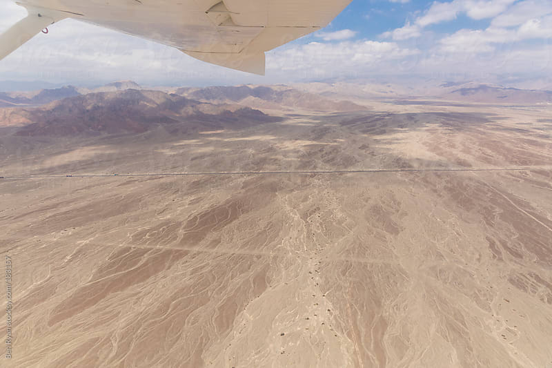 Dry river beds in Nazca Peru seen from air plane by Ben Ryan for Stocksy United
