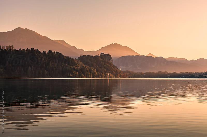 Lake Bled in Slovenia at Sunrise by Tom Uhlenberg for Stocksy United