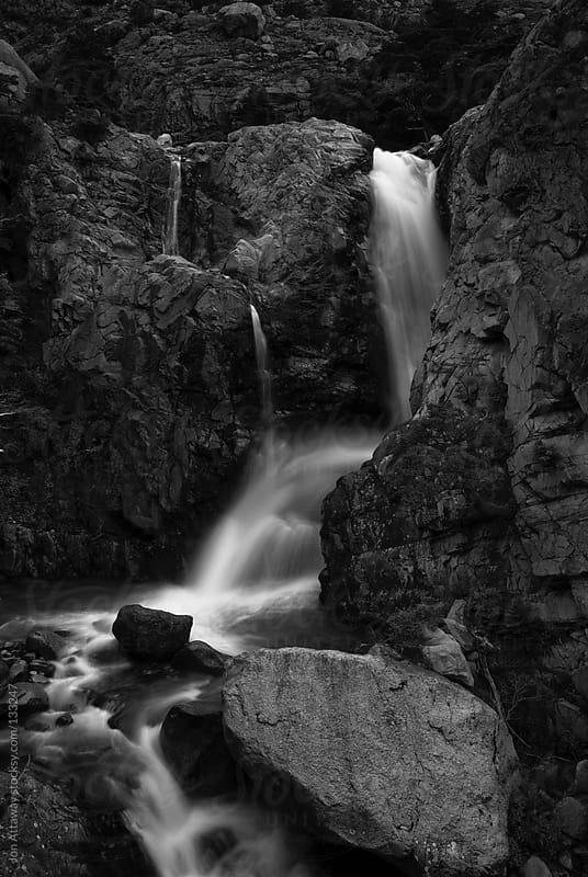 Monochrome waterfall by Jon Attaway for Stocksy United