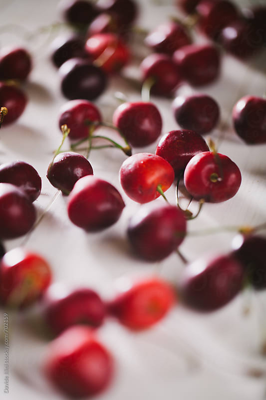 Fresh Cherries by Davide Illini for Stocksy United