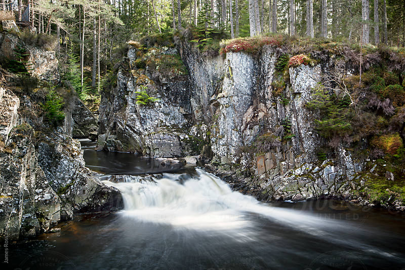 Flowing river in the Scottish Highlands by James Ross for Stocksy United