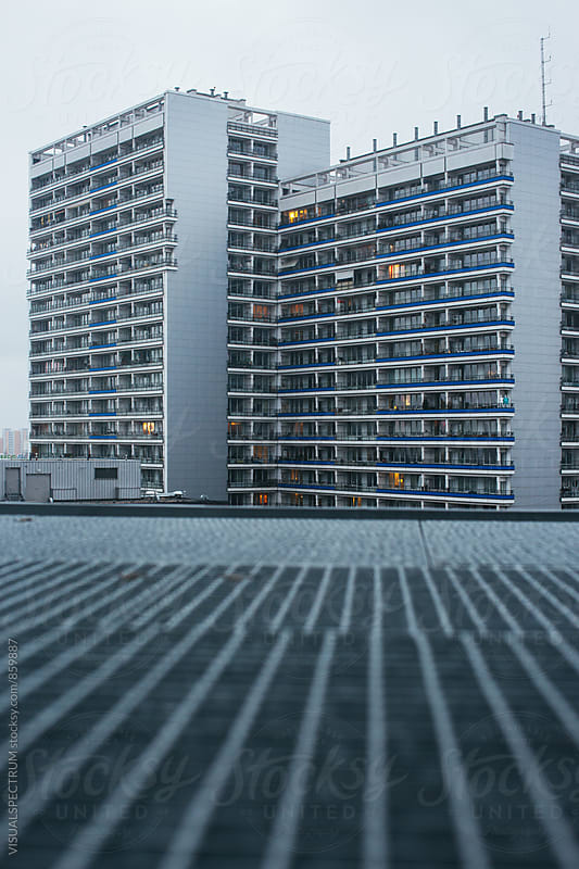 East Berlin Building (Plattenbau) from Rooftop by VISUALSPECTRUM for Stocksy United
