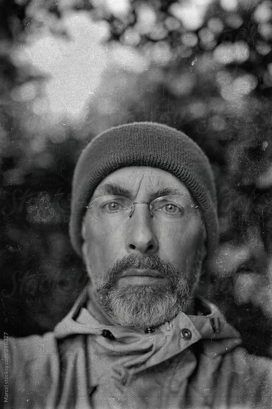 Faux vintage portrait of a man resembling an explorer by Marcel for Stocksy United