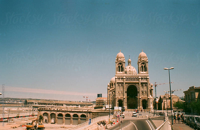 A film photo of Marseille Cathedral by Anna Malgina for Stocksy United