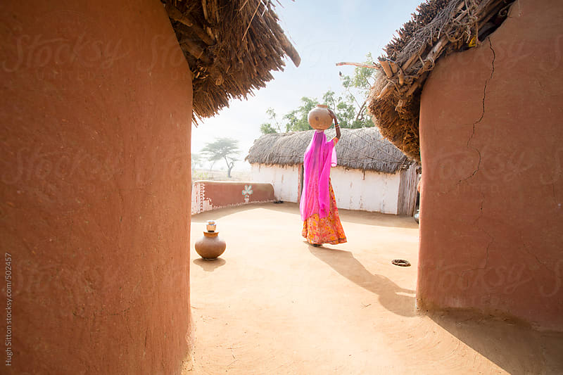 Typical village in Rajasthan. India by Hugh Sitton for Stocksy United