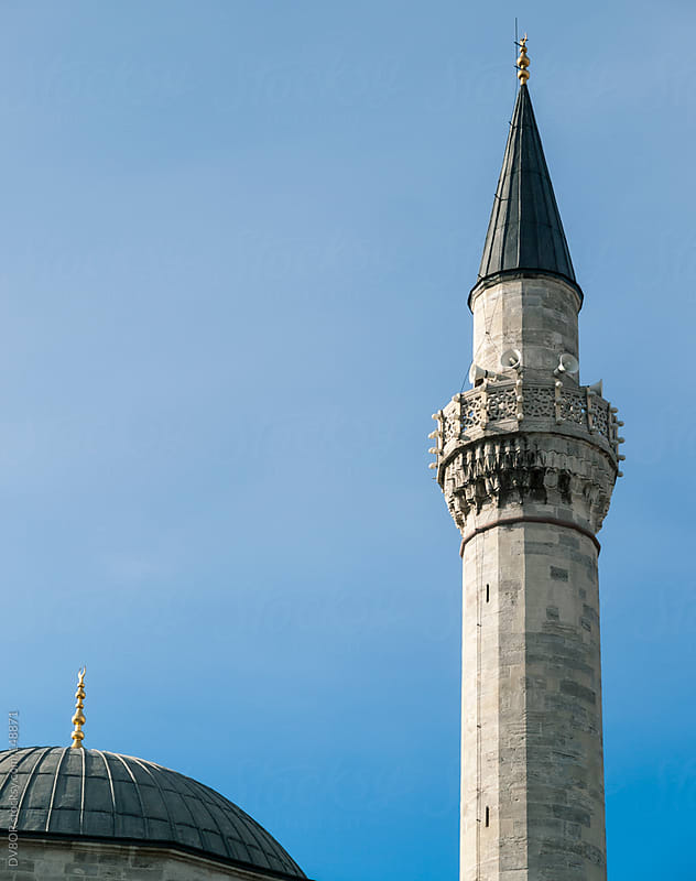 View of The Blue Mosque in Istanbul Turkey with minarets by DV8OR for Stocksy United