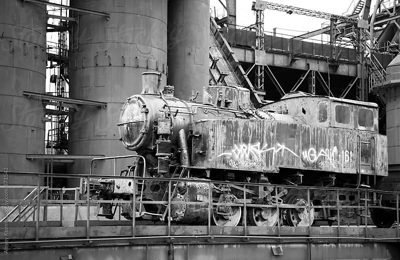grunge steam train by Vesna for Stocksy United