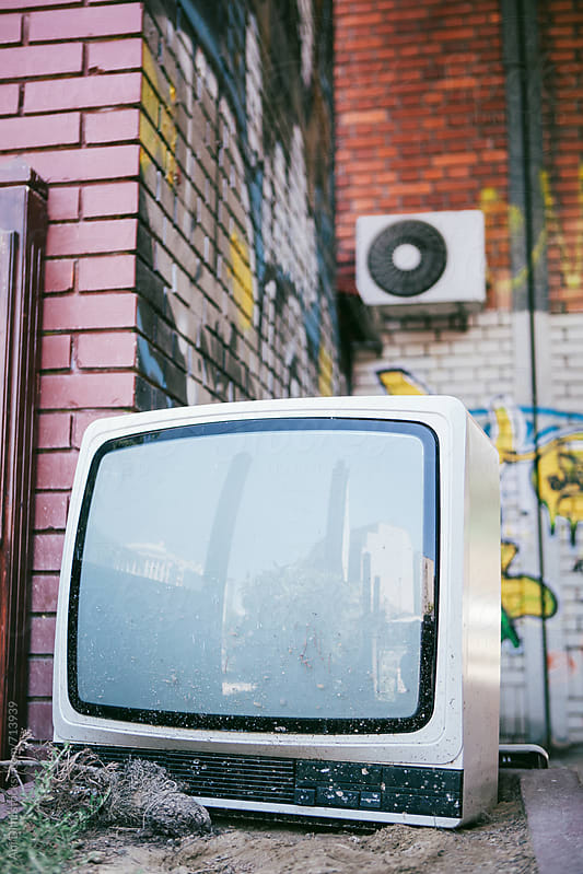 Abandoned TV  by Ani Dimi for Stocksy United