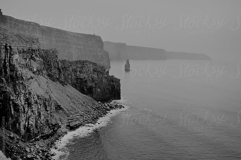 the ocean and the cliffs of moher, Ireland by Jan Bijl for Stocksy United