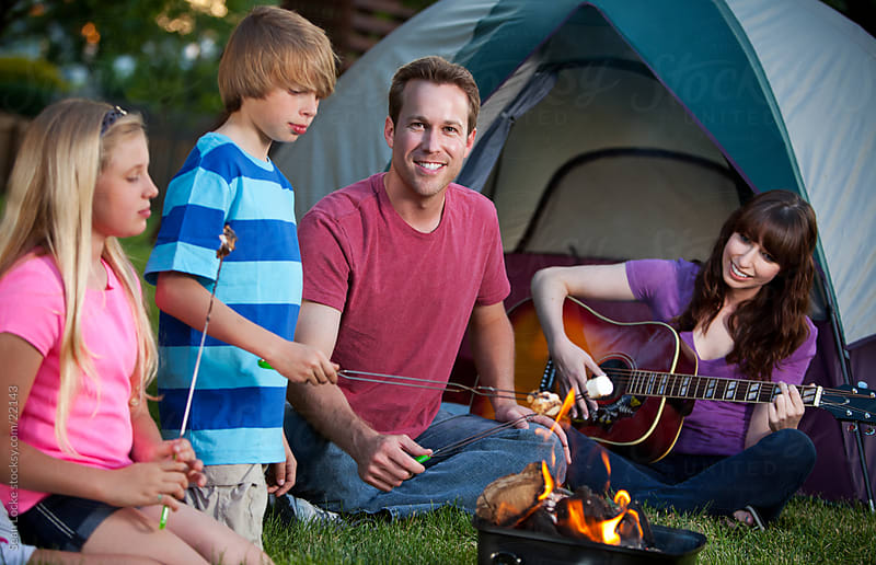 Camping: Having a Great Time with Family in Backyard by Sean Locke for Stocksy United