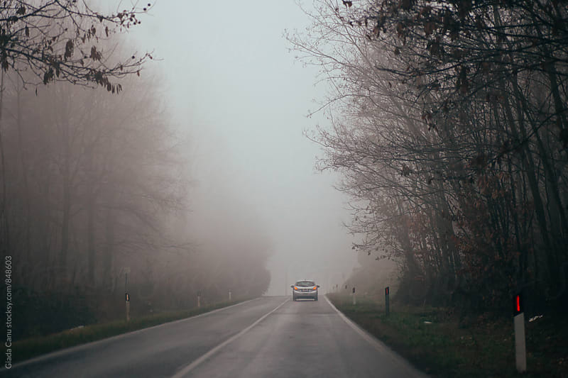 Driving in the fog by Giada Canu for Stocksy United