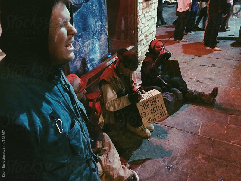 Street Kids Prepare Signs to Beg on the Streets by Kevin Russ for Stocksy United