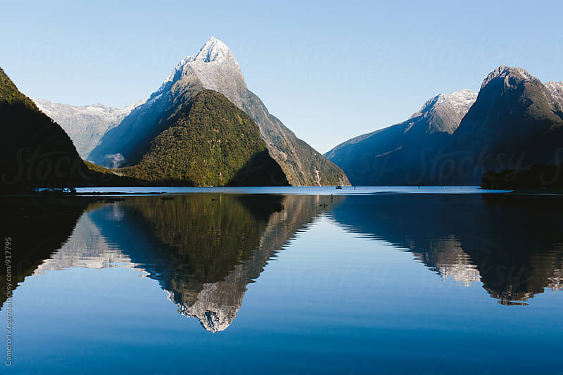 Milford Sound, New Zealand by Cameron Zegers for Stocksy United