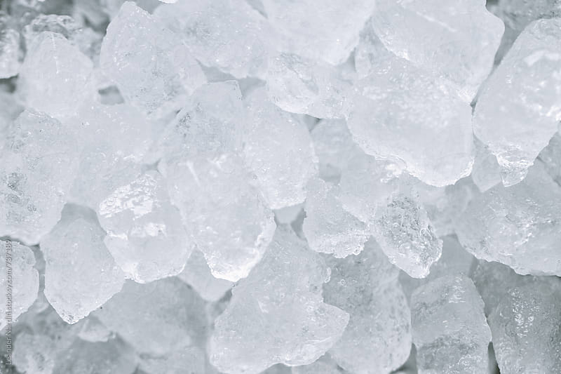 macro image of ice cubes by Leander Nardin for Stocksy United
