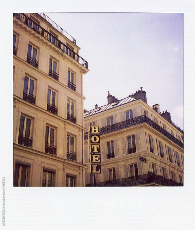 A Paris Hotel Photographed On Polaroid Film by ALICIA BOCK for Stocksy United