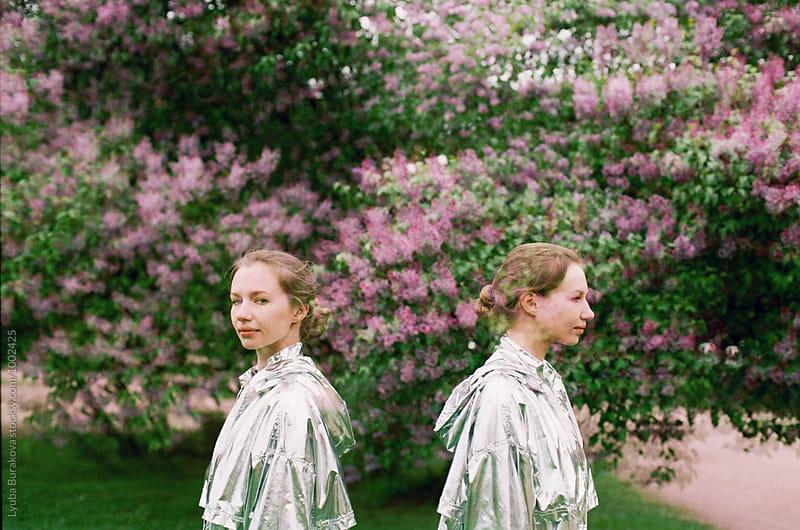 Double exposure portrait  by Lyuba Burakova for Stocksy United