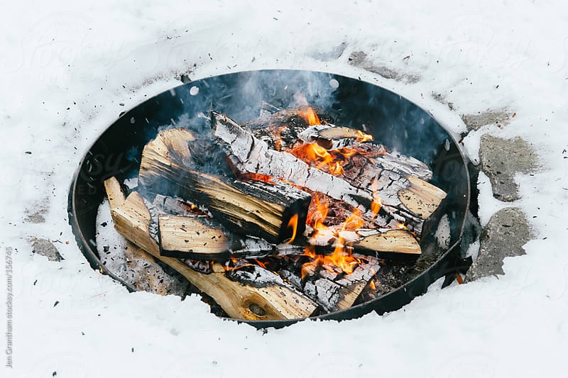 Winter Campfire by Jen Grantham for Stocksy United