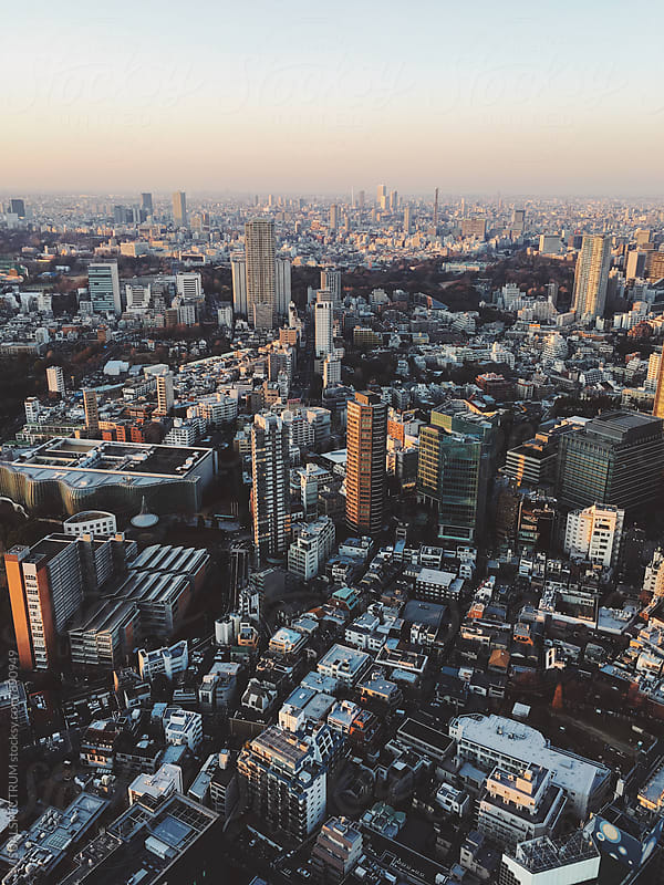 Tokyo Cityscape by VISUALSPECTRUM for Stocksy United