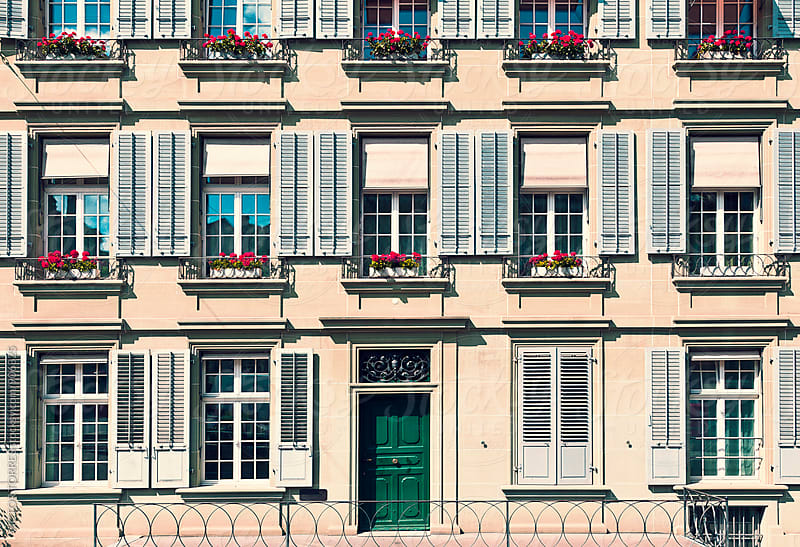 Traditional Building in Bern, Switzerland by VICTOR TORRES for Stocksy United