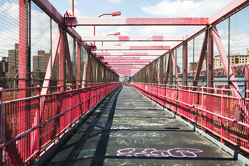 Williamsburg bridge.  by BONNINSTUDIO for Stocksy United