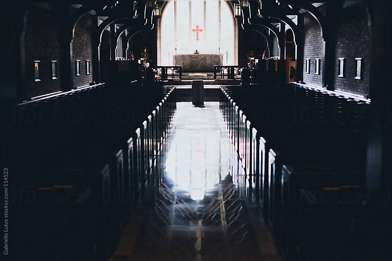 Aisle of an Old Church by Gabrielle Lutze for Stocksy United
