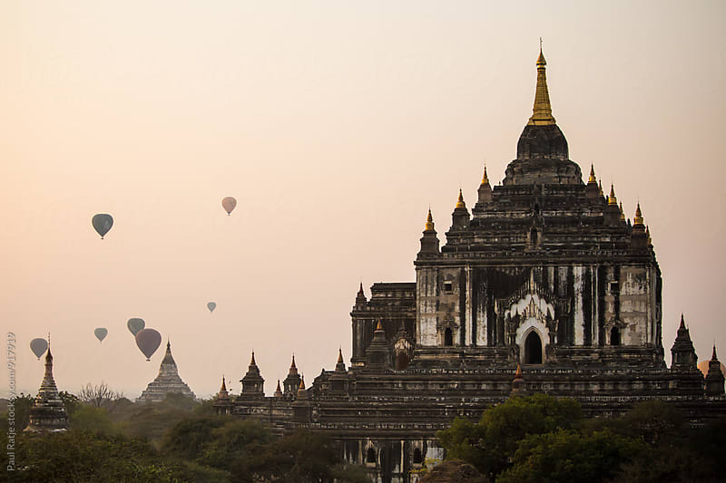 Balloons Over Bagan by Paul Ratje for Stocksy United