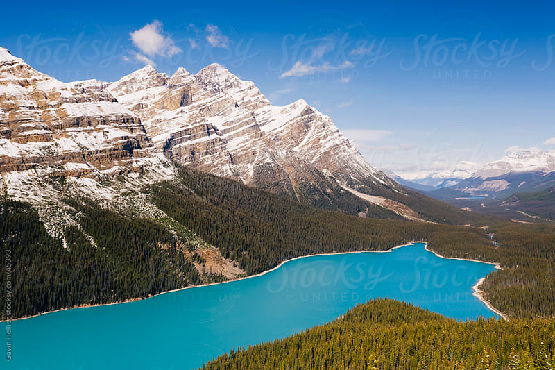 Peyto Lake, coloured by glacial silt, Banff-Jasper National Parks, Canada, North America by Gavin Hellier for Stocksy United