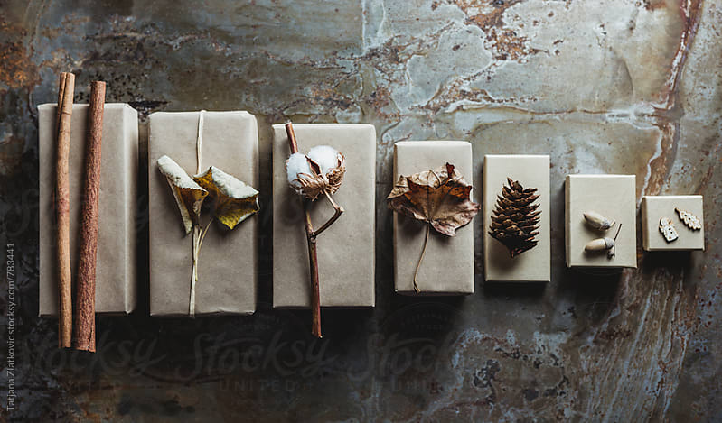 Gifts with natural decoration by Tatjana Zlatkovic for Stocksy United