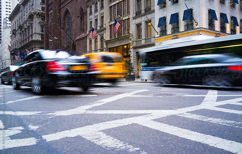 Rush hour in Manhattan, New York City by J.R. PHOTOGRAPHY for Stocksy United