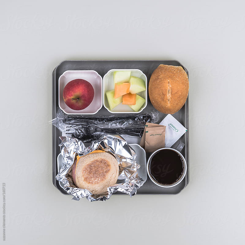 This Airline Breakfast Meal Only Looks Good When You're Trapped on a  by suzanne clements for Stocksy United