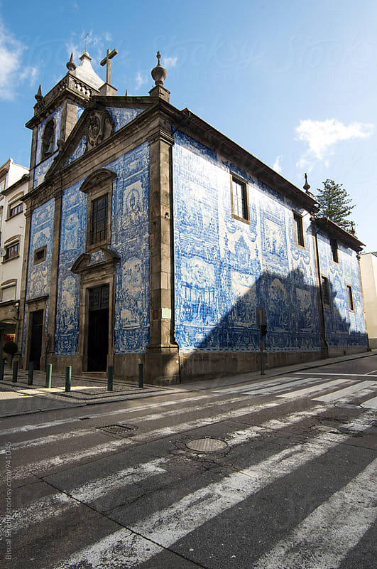 Typical portugues church cover with blue tiles by Bisual Studio for Stocksy United