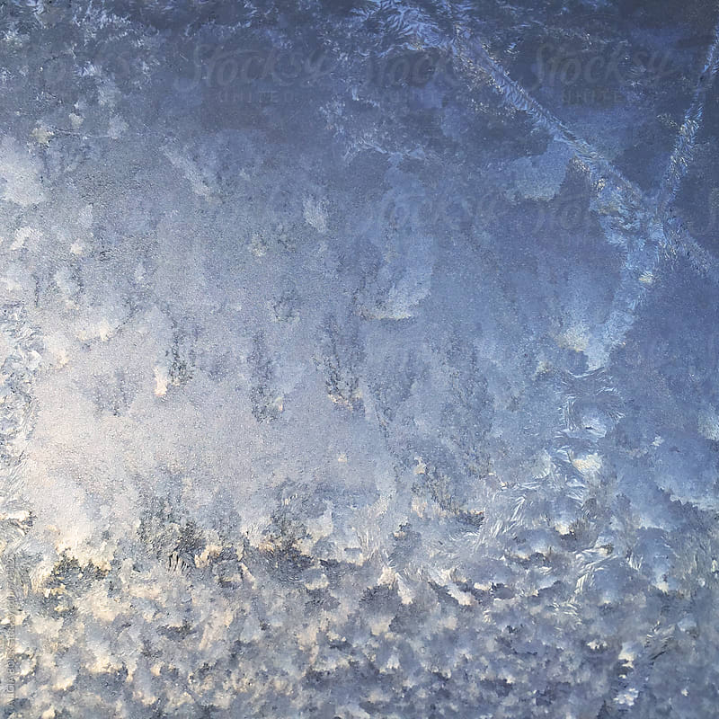 Detailed Patterns Of Frost On A Window On A Winter Morning by ALICIA BOCK for Stocksy United