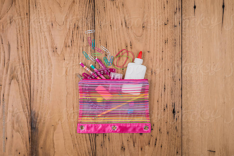 Colorful Pencil Bag Ready to Go Back to School by suzanne clements for Stocksy United
